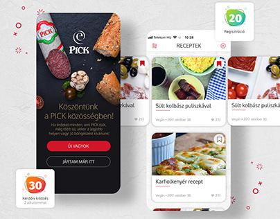 PICK App // UI Design