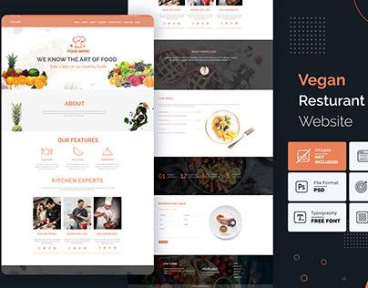 Vegan restaurant website template