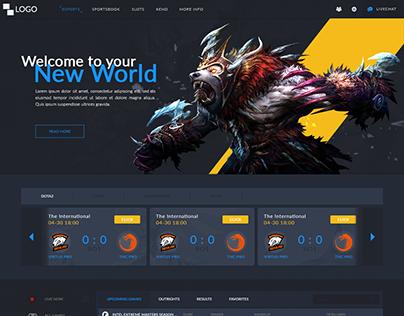 Esports Betting Web Design