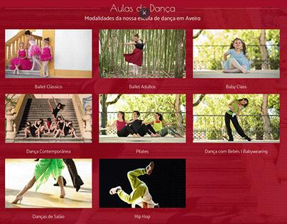 Website da Escola de Dança Sandra Leite