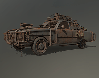 after using some reference i improved my apocalypse car