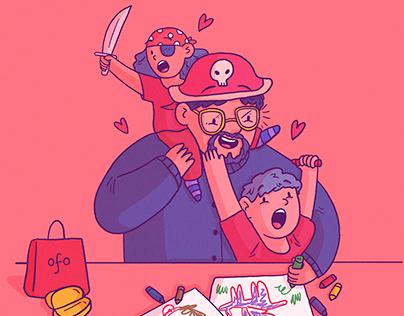 Ilustraciones día del padre - Ofo