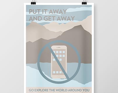 Put it Away & Get Away: WPA Style Poster