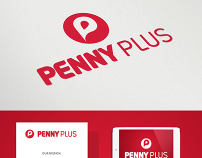 Redesign concept - Penny Plus visual identity