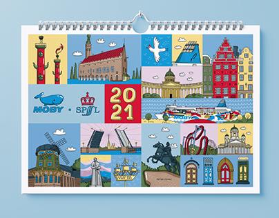Calendar 2021 for MOBY SPL