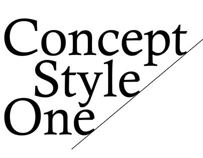ConceptStyleOne