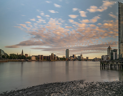 Twilight at Battersea Bridge