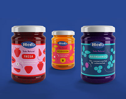 HERO marmalades Packaging Design