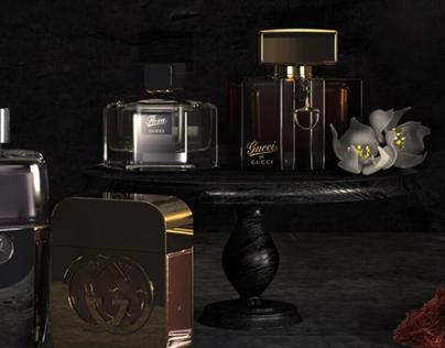 Gucci perfumes still life