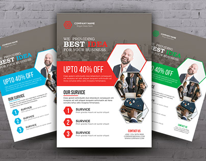 Corporate Business Flyer with Free Mockup PSD