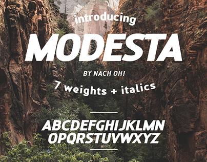 MODESTA Typeface