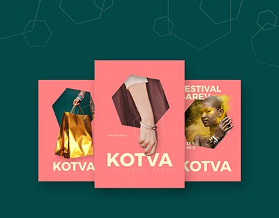 Draft of three posters for department store