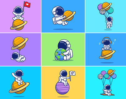 Astronaut Planet 👨🏻🚀🪐
