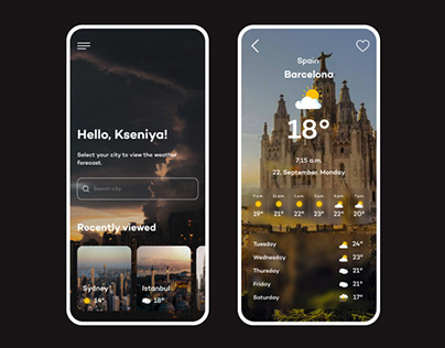 Mobile Weather Forecast App