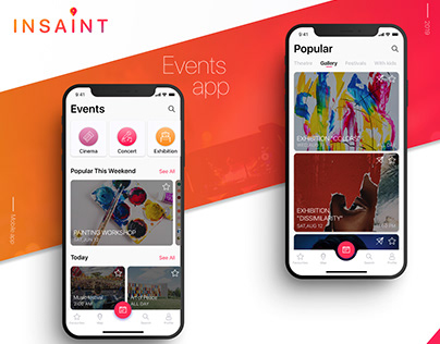 Events app UI/UX design