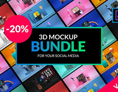 3D Mockup Bundle | After Effects Template