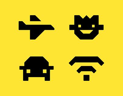 Metro Taxi Icons