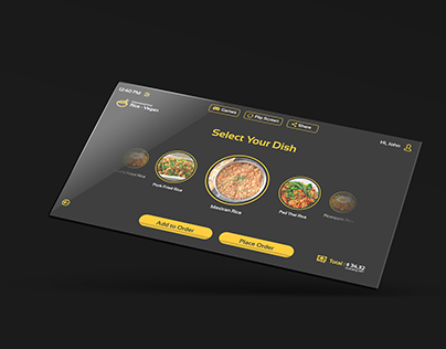 Food Table UI / UX for Restaurant