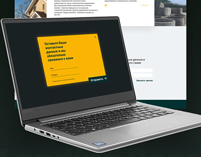Construcktion company landing page