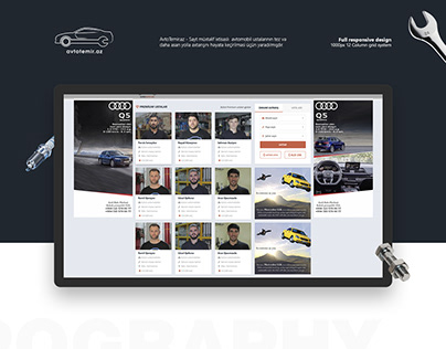 Avtotemir.az web design project