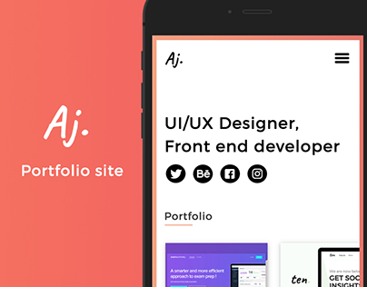 Portfolio Mobile design concept !