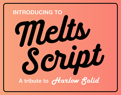 Melts Script (Typefamily)