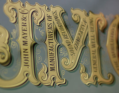 John Mayer Glass Gilding