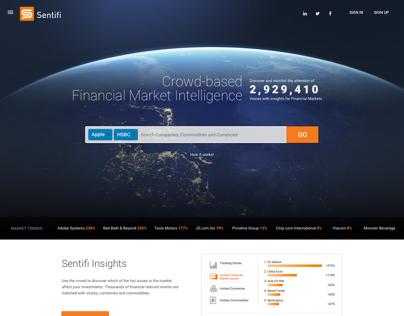 Sentifi homepage