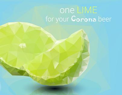 Corona beer ad banner