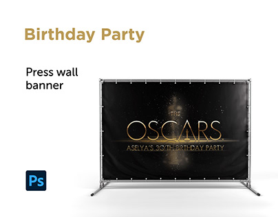 Birtday Party | press wall banner