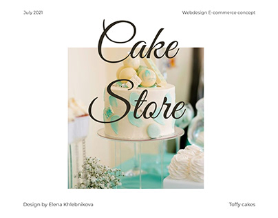 Cake Store web design concept
