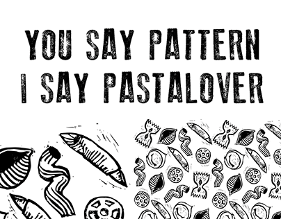 PASTALOVER Linocut Pattern Project
