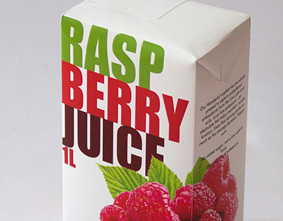 Typographic Fruit Juice Packaging