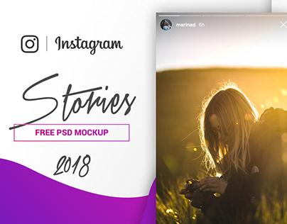 FREE Instagram Stories Mockup 2018