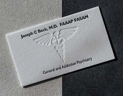 Addiction Psychiatrist business card