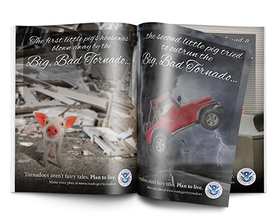 Three Little Pigs - Tornado Safety Ad Campaign