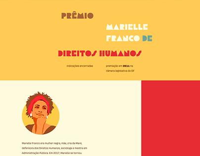 Site: Prêmio Marielle Franco de Direitos Humanos