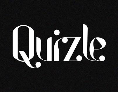 Quizle Display Font