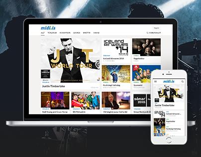 Midi.is - Ticketing Website (2013)