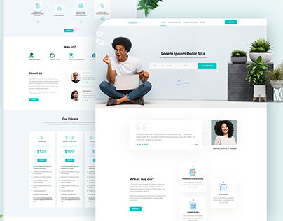 Resume Writing Service landing page