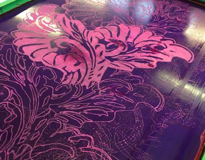 Handprinted Interior Fabric