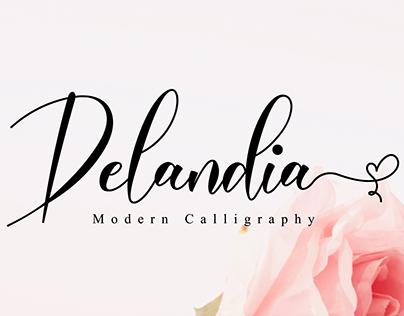 Delandia // Lovely Script Font