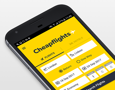 Design of Cheapflights App 2015-2017