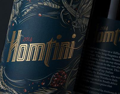 Homtini Wine Label