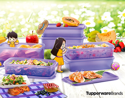 Tupperware Coolstacker with Tyler and Winnie
