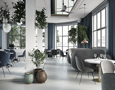 Restaurant Interior. 3Ds Max visualization