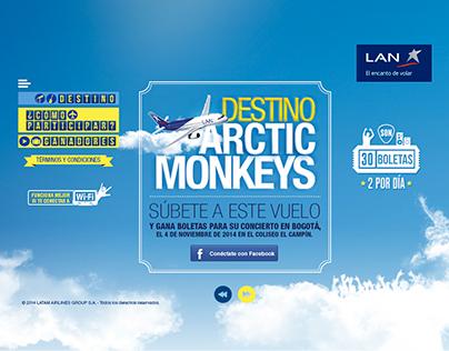 LAN, Destino Arctic Monkeys