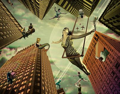 Rascacielos - Collage art