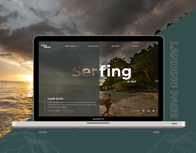Surfing on Bali | Landing Page