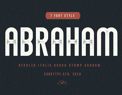 Abraham - Complete Font Family